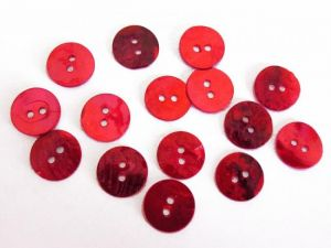 Mother of pearl button 10mm aniline