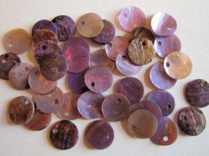 Shell sequin 10mm lilac