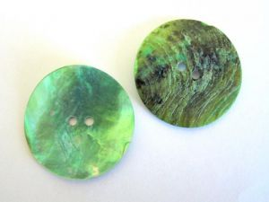 Mother of pearl button 32mm green