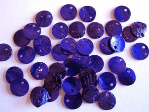 Shell sequin 10mm cobalt blue