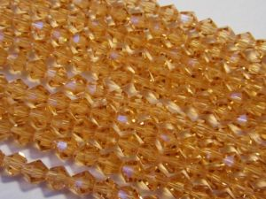 Crystal bicone peach 6mm KRB0024