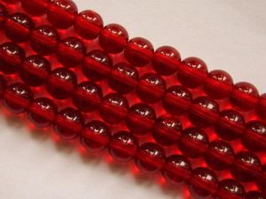 Glass bead 8mm red