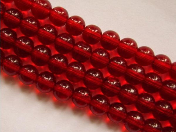 Glass bead 10mm red