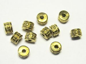 Copper coated bead rondelle CCB2701 K