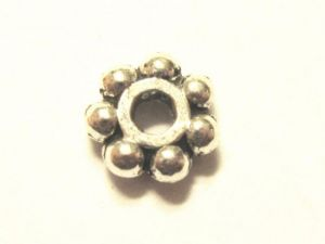 Spacer bead flower antique silver 4,5mm JLF0058