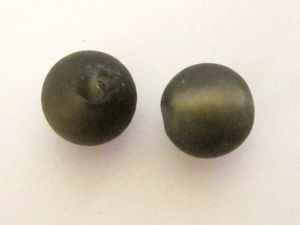Frosted foil bead 14mm dark  smokey brown FH0138