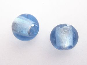 Foil bead 15mm  light blue FH0060