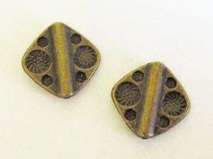 Metal bead antique brass