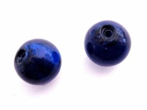 Foil bead 15mm cobalt blue FH0061