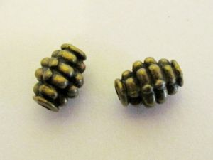 Metal bead grenade antique brass