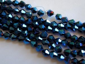 AB-Crystal 6mm bicone blue