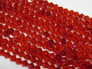 Crystal bicone 4mm red KRB0018