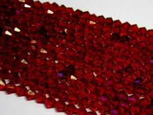 Crystal bicone 4mm dark red KRB0019