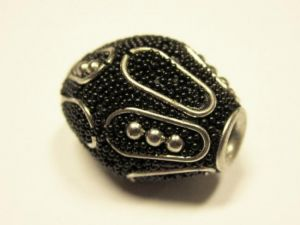 Indonesian bead faceted  black IND20
