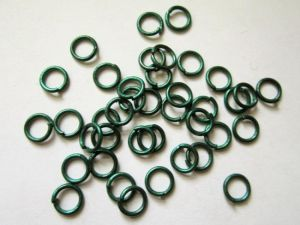 Jump rings green 6mm