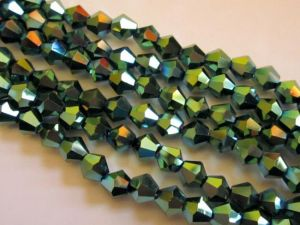 AB-Crystal 6mm bicone green