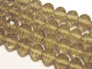 Crystal bead 10mm smokey grey