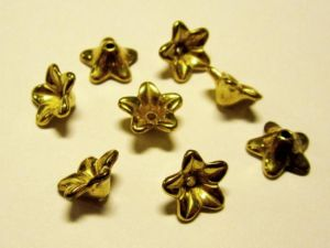 Copper coated bead flower CCB2971 K