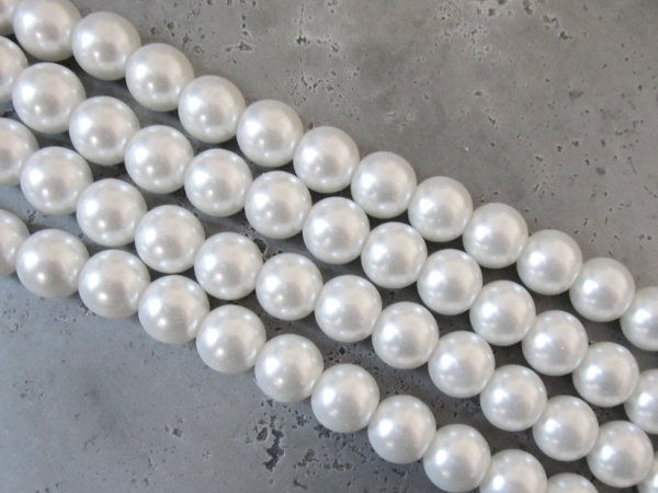 Glass pearl 4mm white HL04