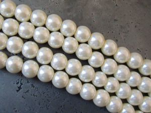 Glass pearl 8mm creamy white HL05