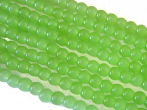 Glass bead 4mm milky light green LH27