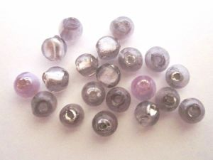 Foil bead 6mm lilac FH0107