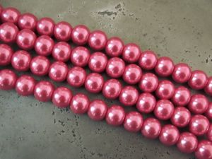 Glass pearl 6mm rasberry HL08