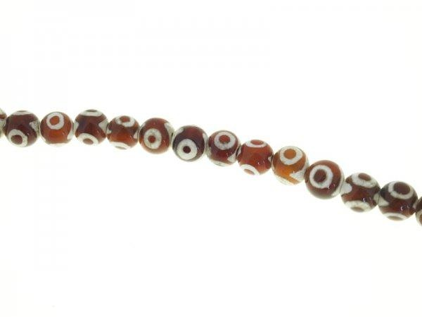 Dzi- agate bead strand 10mm eye pattern