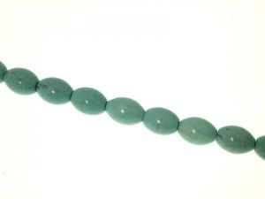 Magnesite turquoise dyed 10x13mm fat grain