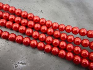 Glass pearl 6mm red HL11
