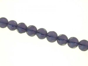 Glass bead 12mm lilac etched
