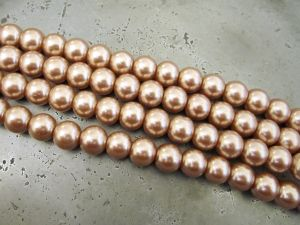 Glass pearl 8mm beige HL14