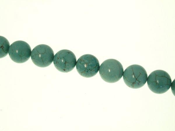 Turquoise dyed  Magnesite 14mm