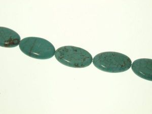 Magnesite turquoise dyed 15x26mm oval