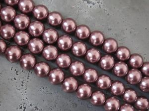 Glass pearl 6mm rose brown HL17