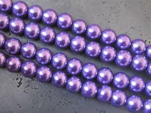 Glass pearl 6mm purple HL21