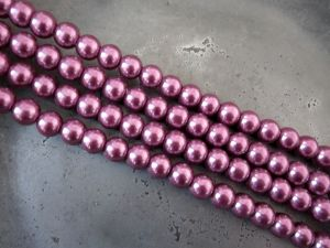 Glass pearl 8mm heather HL22