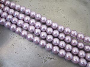 Glass pearl 8mm light lilac HL23