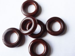Wood ring dark brown 24mm (10pcs)