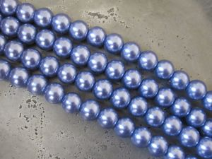 Glass pearl 6mm sky-blue HL25
