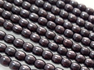 Czech glass bead 2,8mm metallic dark plum ( 141 pcs)