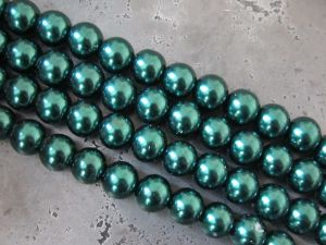 Glass pearl 8mm dark green HL29