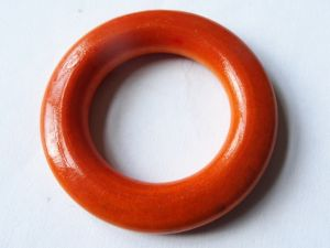 Wood ring orange 43mm