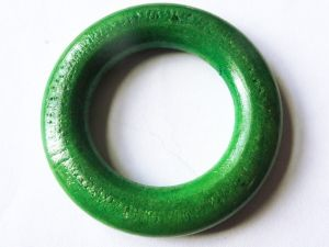 Wood ring green 44mm