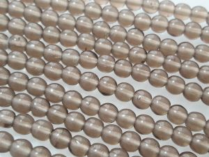 Czech glass bead 4mm smokey brown (107 pcs)