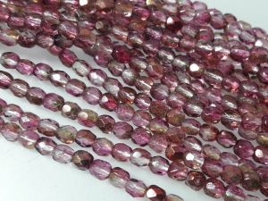 Czech faceted glass 4mm AB-light aniline (98pcs)
