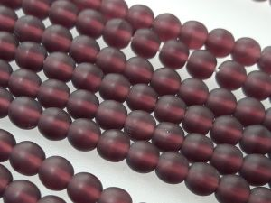 Czech glass bead 4mm matte dark plum (107 pcs)