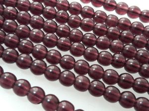 Czech glass bead 4mm dark plum (106 pcs)