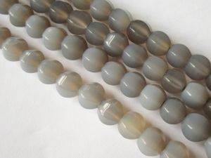 Agate hexacon grey 8mm