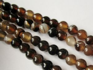 Agate brown 6mm